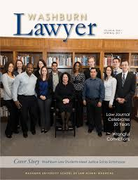Washburn Lawyer, v. 49, no. 1 (Spring 2011) (revised 7/14/2011