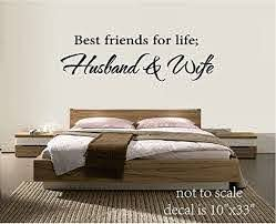Amazon Com Best Friends For Life Husband Wife Vinyl Wall Decal Letters Home Decor Bed Room Home Kitchen