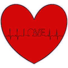 Love Ekg Heart Sticker U S Custom Stickers