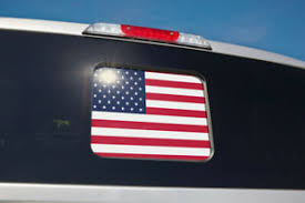 Ford American Flag Perforated Back Window Decal Fits F150 F250 F350 2015 2018 Ebay