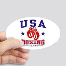Usa Boxing Stickers Cafepress