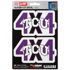 Tcu Horned Frogs 4x4 Team Decal 2 Pack Set