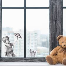 Banksy Thank You Nhs Window Wall Sticker Influent Uk