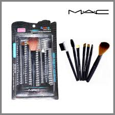 elegancio mac makeup brush set of 7