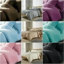 teddy bear fleece duvet quilt cover set