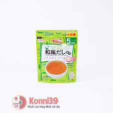 Bột dashi Wakodo cá bào rong biển cho bé tập ăn dặm từ 5 tháng tuổi 50g nội  địa Nhật - mẫu mới 2020 - giá tốt Konnichiwa Mart