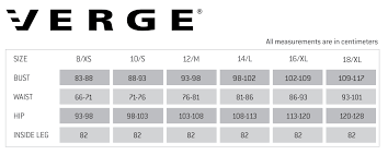 verge sizing guide preen clothing nz