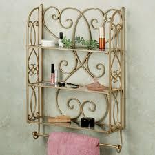 gianna wall shelf with towel bar