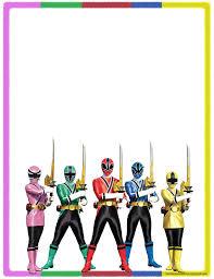 Bordes Decorativos De Hojas De Power Rangers Samurai Para Imprimir
