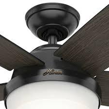 contemporary matte black ceiling fan