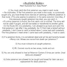 Pokemon Pearl Nuzlocke Rules by EchoSongs on DeviantArt