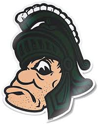 Amazon Com Ncaa Vintage And Popular Car Decals From Nudge Printing Michigan State University Full Color Gruff Sparty 3 75 Wide X 4 5 Tall Clothing