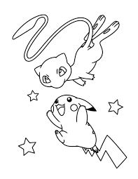 Cute Pokemon Coloring Pages Mew