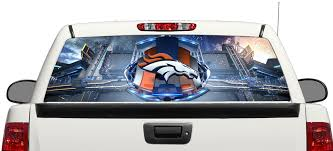 Product Denver Broncos Football Rear Window Decal Sticker Pick Up Truck Suv Car 3