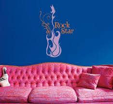 Rock Star Guitar Beautiful Wall Decals