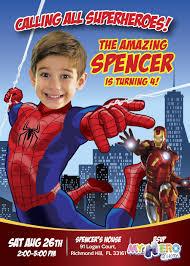 Spiderman Birthday Invitation With Your Boy As Spiderman