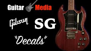 Gibson Sg Decals Youtube