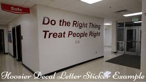 Wall Lettering Stickers For Home Or School Hoosierdecal