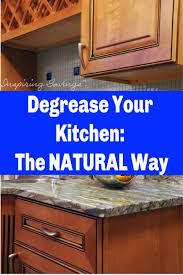 degrease kitchen cabinets with an all