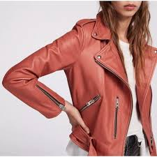 bnwt balfern leather moto jacket us6
