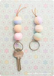 wooden bead key chain fun crafts kids