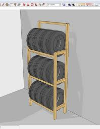 Cheap And Easy To Build Tire Rack 5 Steps Instructables