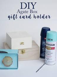 diy agate gift card box
