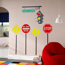 Zoomie Kids Stop Go Personalized Wall Decal Reviews Wayfair
