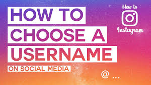 how to choose a good username how to
