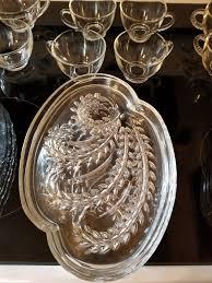 glass hospitality snack set
