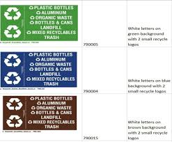 Recycle 42 Decal Sticker Set 3 Colors To Choose