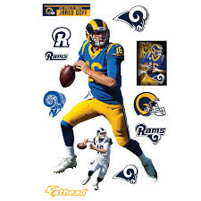 Fathead Jared Goff Los Angeles Rams 12 Pack Life Size Removable Wall Decal