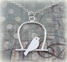 solid handmade lovebirds bird pendant