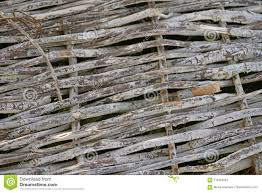Green Bright Grass Fence Woven From Twigs Stock Image Image Of Hedge Garden 114554281
