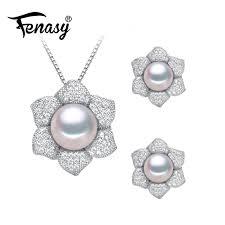 2020 fenasy pearl jewelry sets flower