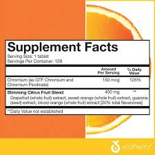 youtheory Slimming Citrus Fruit, 120 Tablets - Walmart.com ...