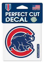 Chicago Cubs Alternate Logo Auto Decal Blue 5713458