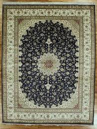silk rug collection blue ivory