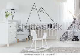Child Bedroom Decorative Wall Decal Dresser Stock Photo Edit Now 534189484