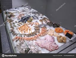 Fresh Seafood Store — Stock Photo ...