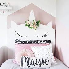 Bespoke Whimsical Unicorn Headboard Childrens Bedroom Unicorn Bed Kids Whimsy Girls Headboard Unicorn Bedding Bedroom For Girls Kids