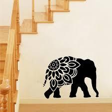 Elephant Mandala Silhouette Vinyl Wall Art Sticker Clipart Decals Home Decor Ebay