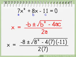 how to find a in quadratic equation