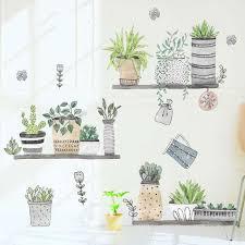 Pot Plants Kids Wall Stickers Nursery Home Decor Removable Vinyl Decal Art Mural Ebay