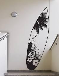 Beach House Surfboard Tropical Vibe Wall Decal Sticker 329 Stickerbrand