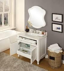 34 White Knoxville Bathroom Vanity W Mirror Gd 1533wt Mir