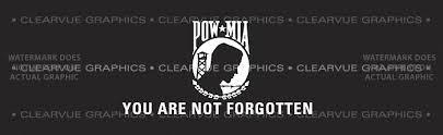 Pow Mia 2 Patriotic Rear Window Graphic