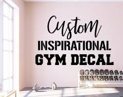 Gym Wall Decals Etsy