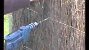 Offset Method Brushwood Fence Panel Installation Ausbrush Panels Youtube