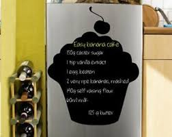 Cupcake Chalkboard Kitchen Dining Room Wall Sticker Free Chalk Fridge Decal Uk Ebay
